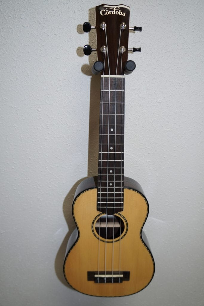 Cordoba 22S Soprano Ukulele in Natural Gloss with Rosewood Body