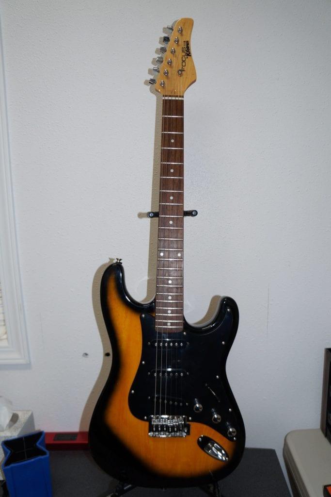 Kramer Focus 111S Strat Style Guitar in Vintage Sunburst and Chrome