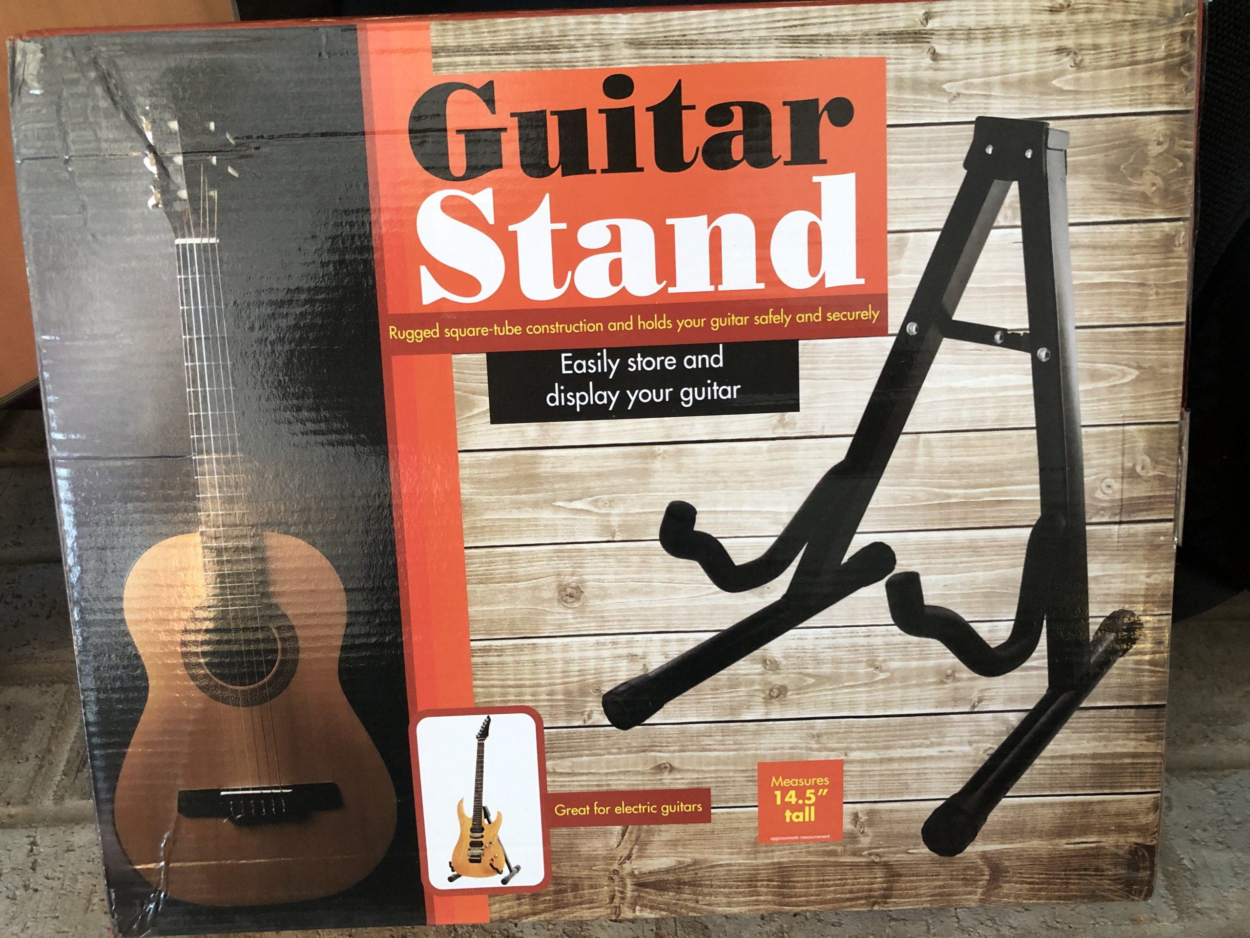 Folding Guitar Stand for Electric or Acoustic Guitars