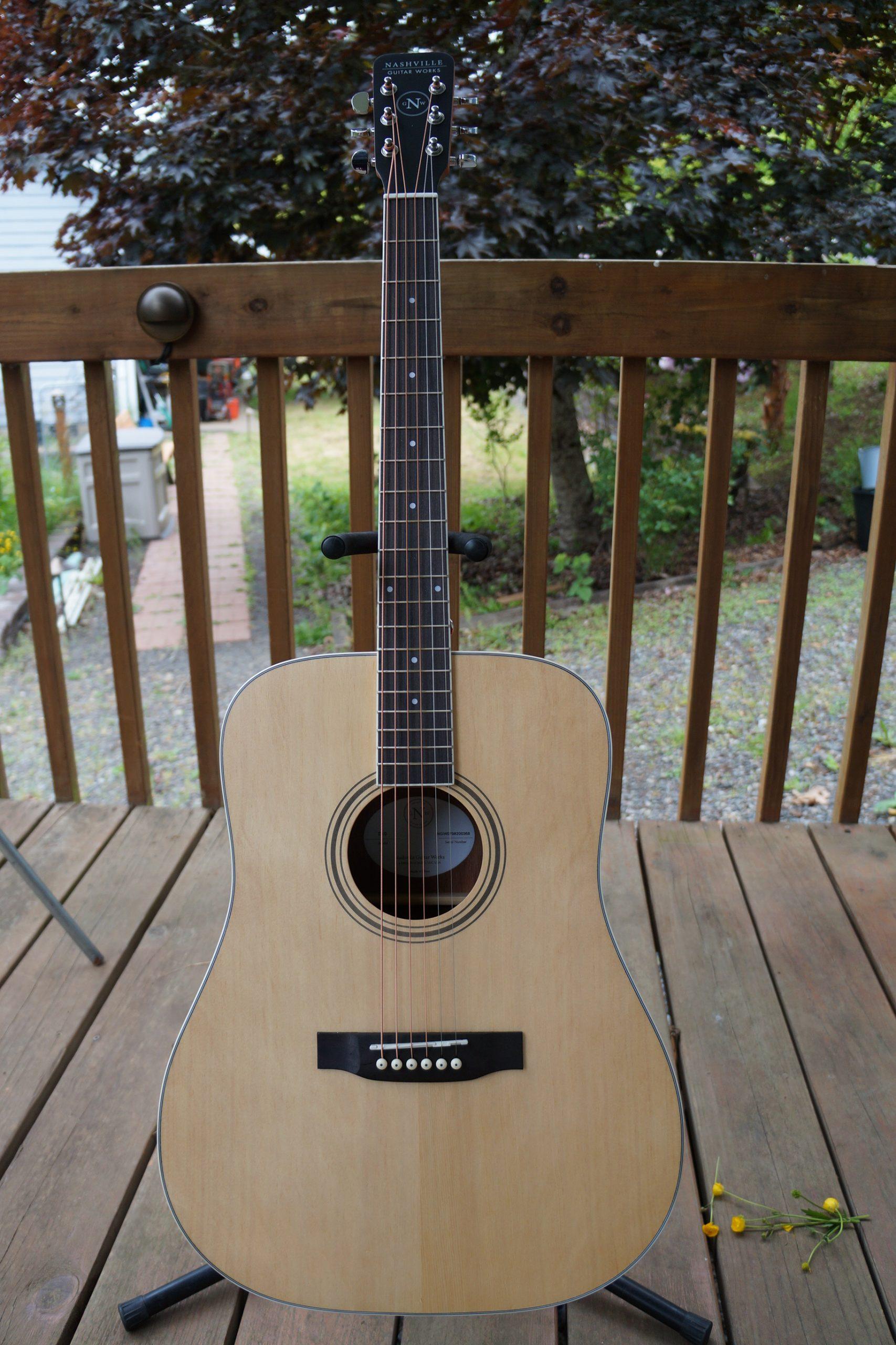 Nashville Guitar Works Orchestra Acoustic: Natural Satin Finish (NEW) w/Bag