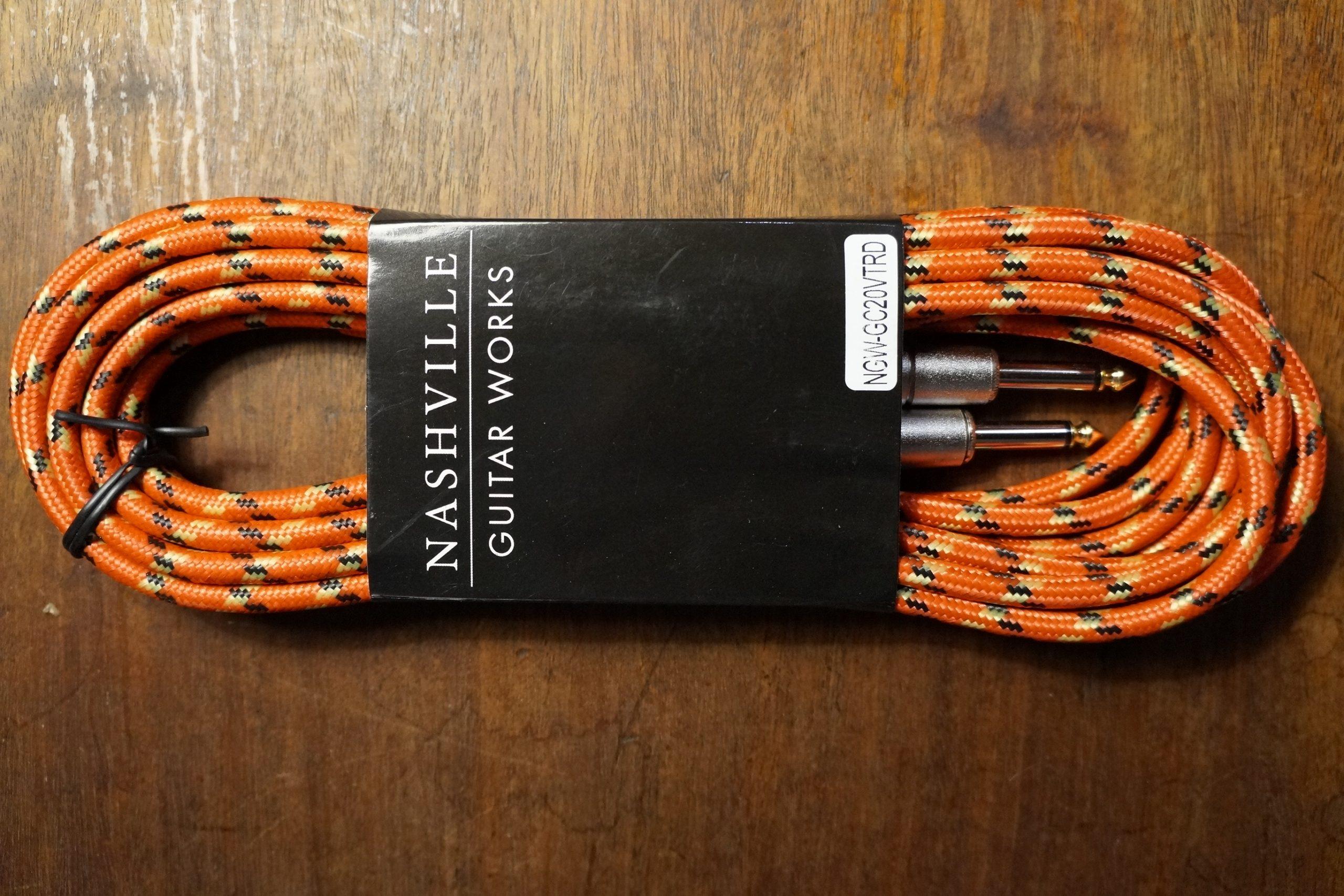 Nashville Guitar Works 20Ft. Red Vintage Tweed Instrument Cable (New)