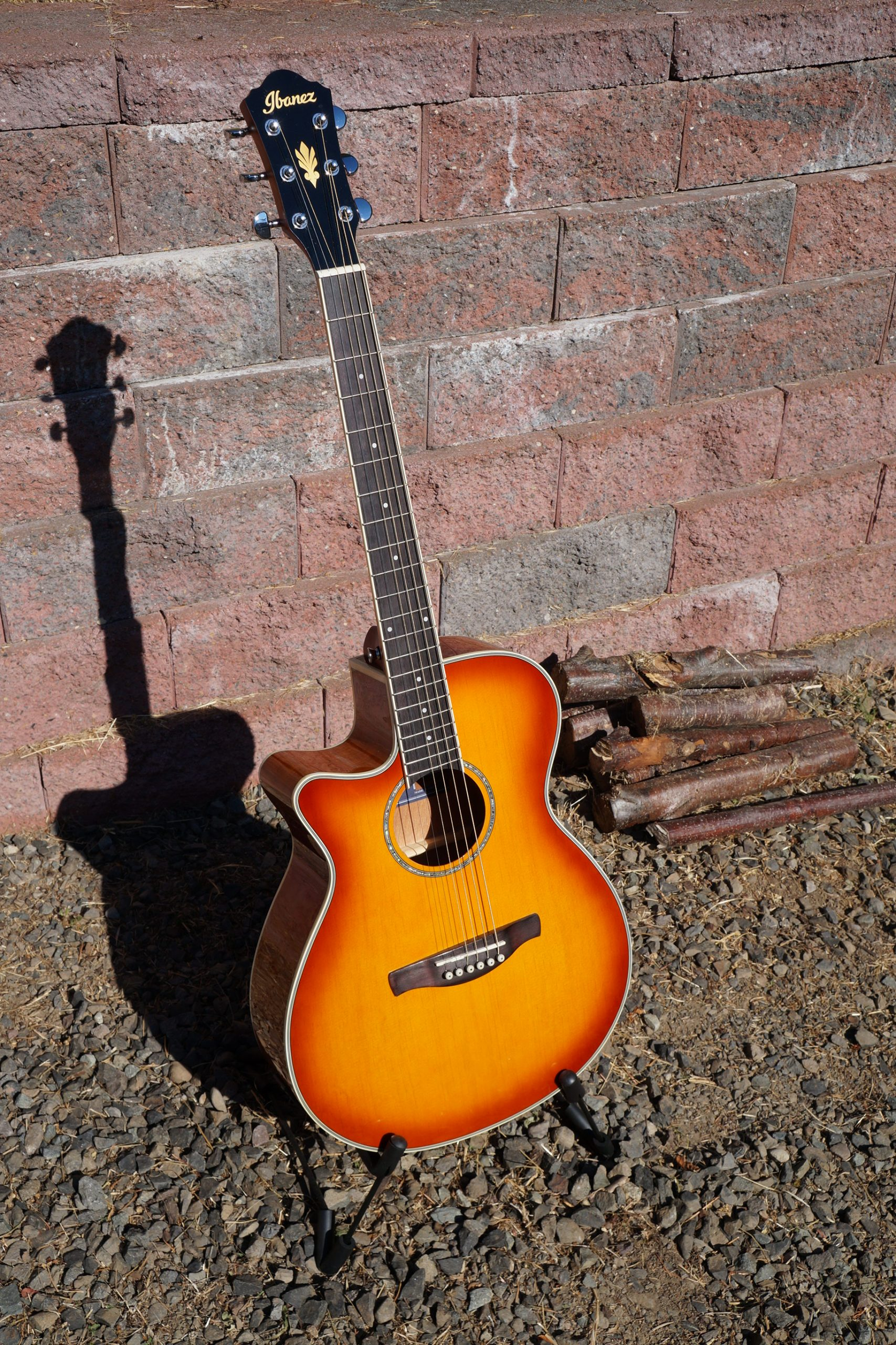"Ibanez AEG18LH A/E Guitar in ""Vintage Violin"" (Cherry Burst) Left Handed, w/ New TKL Hardcase"