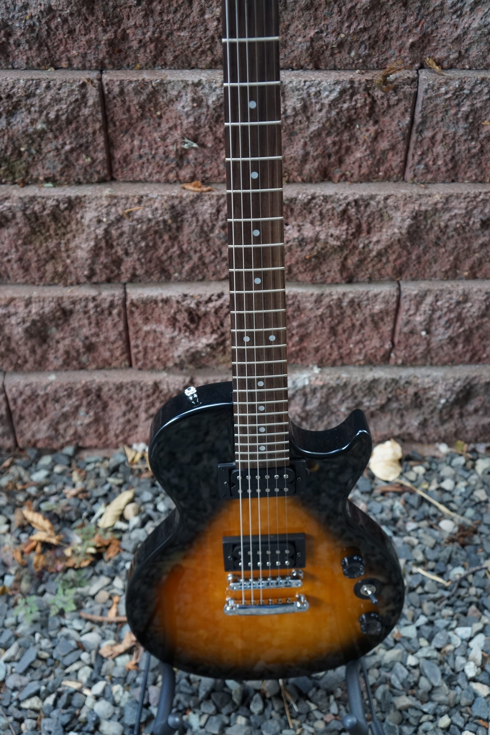 Epiphone by Gibson Special II Limited Edition: Classic Orange Burst with Gothic Cross