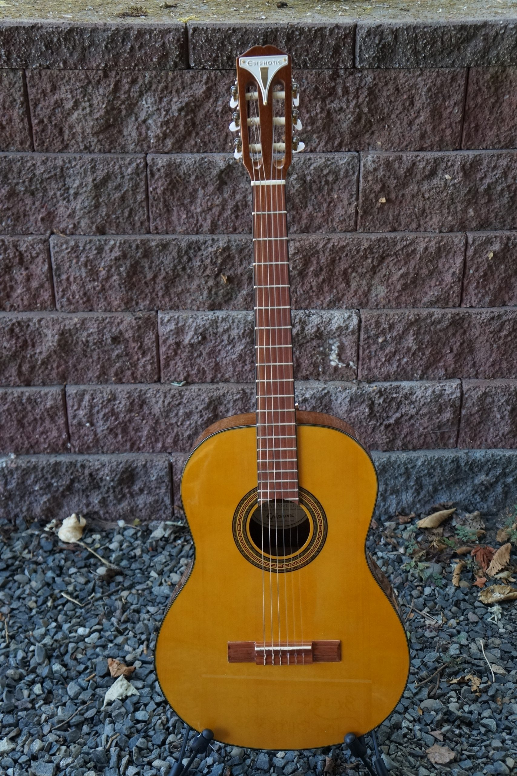 Epiphone Pro-1 Classical Nylon String Guitar in Natural Finish with Strap Lugs