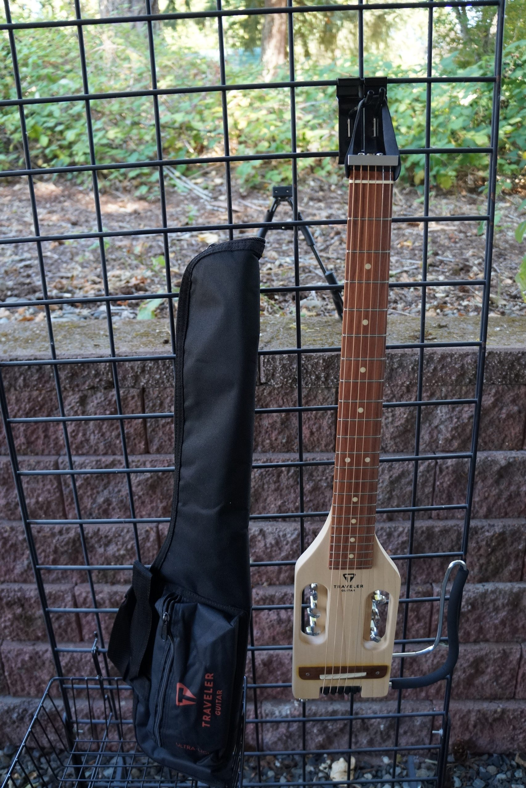 Traveler Ultra-Light Acoustic Electric Travel Guitar: Maple with Travel Bag